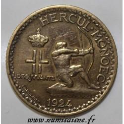 MONACO - KM 111 - 1 FRANC 1924 - POISSY - LOUIS II