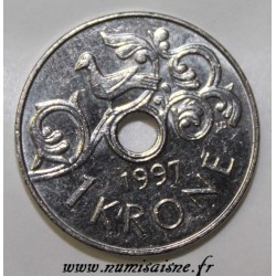 NORVÈGE - KM 462 - 1 KRONE 1997 - HARALD V (TYPE 2)
