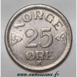 NORWAY - KM 401 - 25 ORE 1957- HAAKON VII