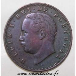 PORTUGAL - KM 526 - 10 REIS 1884 - LOUIS 1ST