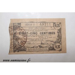 County 02 - HIRSON - VOUCHER OF 25 CENTIMES 1917 - 14.06