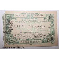 02 - HIRSON - BON DE 10 FRANCS 1917 - 12.12 - DV