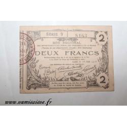 02 - LAON - BON DE 2 FRANCS 1916 - 16.06 - DV