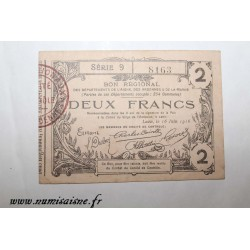 County 02 - LAON - VOUCHER OF 2 FRANCS 1916 - 16.06