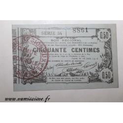 02 - LAON - BON DE 50 CENTIMES 1916 - 16.06 - SÉRIE 34 - DV