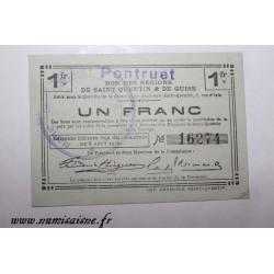 02 - LAON - BON DE 1 FRANC 1916 - 08.08 - DV