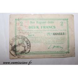 02 - SAVY - BON DE 2 FRANC - NON DATÉ - DV