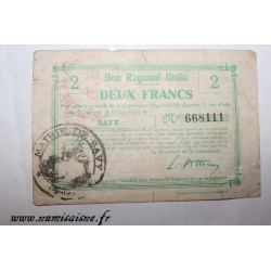 County 02 - SAVY - VOUCHER OF 2 FRANC - UNDATED