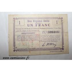 02 - SEQUEHART - BON DE 1 FRANC - NON DATÉ - DV