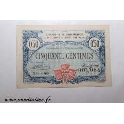 02 - MOULINS ET LAPALISSE - BON DE 50 CENTIMES 1921 - 17.11 - SERIE 46 - DV