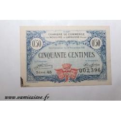 02 - MOULINS ET LAPALISSE - BON DE 50 CENTIMES 1921 - 17.11 - SERIE 45 - DV