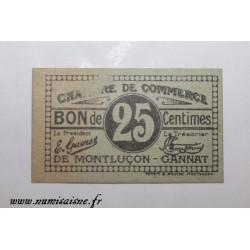 03 - MONTLUÇON - 25 CENTIMES - CHAMBRE DE COMMERCE
