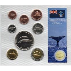 TRISTAN DA CUNHA - COIN SET BU 2008 - 8 COINS
