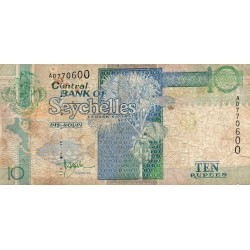 SEYCHELLES - PICK 36 a - 10 RUPEES ND (1998-2010 )