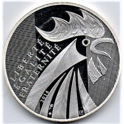 FRANCE - KM 2110 - 10 EURO 2014 - ROOSTER - SECOND MAIN