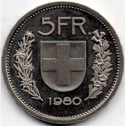 SWITZERLAND - KM 40a - 5 FRANCS 1980 - SHEPHERD'S HEAD