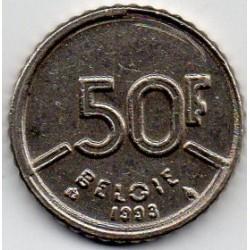BELGIUM - KM 169 - 50 FRANCS 1993 - BAUDOIN 1ST - FLEMISH LEGEND