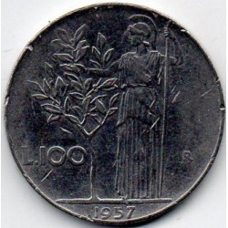 ITALY - KM 96.1 - 100 LIRE 1957