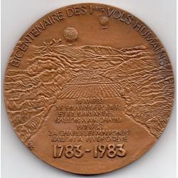 BICENTENNIAL OF THE 1ST HUMAN FLIGHTS (1783-1983) - JOSEPH AND ETIENNE DE MONTGOLFIER