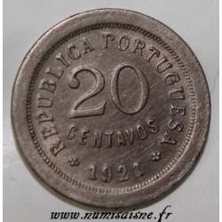 PORTUGAL - KM 571 - 20 CENTAVOS 1921