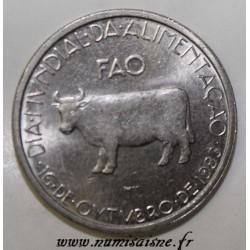 PORTUGAL - KM 618 - 5 ESCUDOS NO DATE (1983) - F.A.O. - COW