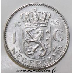 NETHERLANDS - KM 184 - 1 GULDEN 1956
