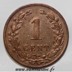 NETHERLANDS - KM 107 - 1 CENT 1878 - Willem III (1849-1890)