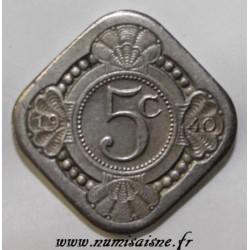 NETHERLANDS - KM 153 - 5 CENTS 1940 - WILHELMINA (1890-1948)