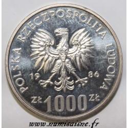 POLAND - KM Pr549 - 1000 ZLOTYCH 1986 - PROBA