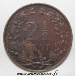 NETHERLANDS - KM 108.1 - 2 1/2 CENTS 1886 - GUILLAUME III