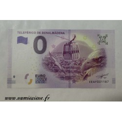SPAIN - TOURISTIC 0 EURO SOUVENIR NOTE - BENALMADENA CABLE CAR - EAGLE - 2019