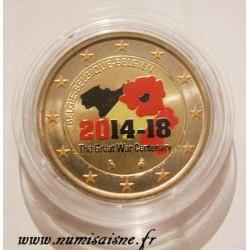 BELGIUM - 2 EURO 2014 - Centenary of the 1st World War - COLOR