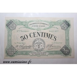 County 28 - EURE ET LOIR - 50 CENTIMES 1917 - CHAMBER OF COMMERCE