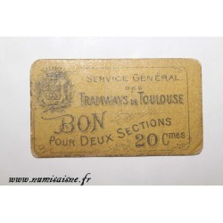 County 31 - TOULOUSE - 20 CENTIMES - TRAMWAYS