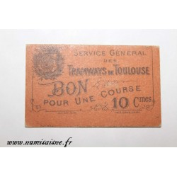 County 31 - TOULOUSE - 10 CENTIMES - TRAMWAYS