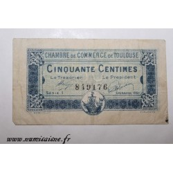 County 31 - TOULOUSE - 50 CENTIMES 1920 - 13.10 - CHAMBER OF COMMERCE