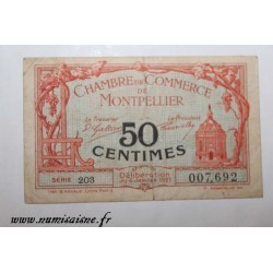 County 34 - MONTPELLIER - 50 CENTIMES 1921 - 06.01 - CHAMBER OF COMMERCE