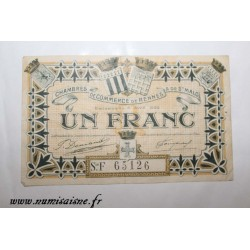 County 35 - RENNES - 1 FRANC 1922 - 06-04 - CHAMBER OF COMMERCE