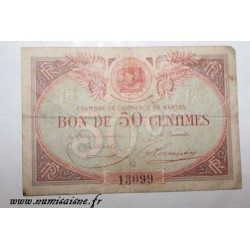 County 44 - NANTES - 50 CENTIMES 1922 - 31.12 - CHAMBER OF COMMERCE