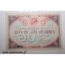 County 44 - NANTES - 50 CENTIMES 1924 - 31.12 - CHAMBER OF COMMERCE