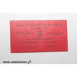 County 47 - TONNEINS - VOUCHER OF 5 CENTIMES 1918 - 05.06