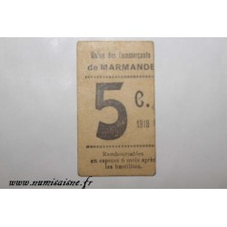 County 47 - MARMANDE - 5 CENTIMES 1918