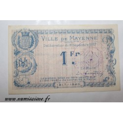 County 53 - MAYENNE - 1 FRANC 1917 - 08.12
