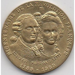 BICENTENNIAL OF THE FRENCH REVOLUTION - 1789-1989 - LOUIS XVI AND MARIE ANTOINETTE