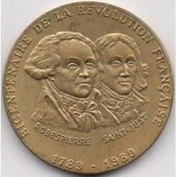 BICENTENNIAL OF THE FRENCH REVOLUTION - 1789-1989 - ROBESPIERRE - SAINT-JUST