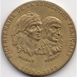 BICENTENNIAL OF THE FRENCH REVOLUTION - 1789-1989 - MARAT - HEBERT