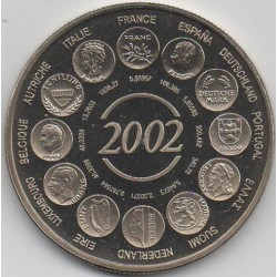 FRANCE - MEDAL - THE BIRTH OF THE EURO FIDUCIARY - 2002 - ESSAY