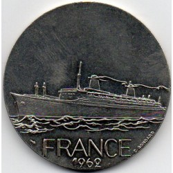 FRANCE - MEDAL - BOAT - THE FRANCE - 1962 - TRANSATLANTIC
