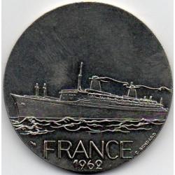 FRANKREICH - MEDAILLE - BOOT - DIE FRANCE - 1962 - TRANSATLANTISCH