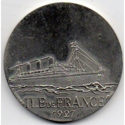 FRANCE - MEDAL - BOAT - ILE DE FRANCE - 1927 - TRANSATLANTIC